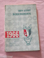 VINTAGE BSA BOY SCOUTS OF AMERICA 1966 REQUIREMENTS  BOOKLET