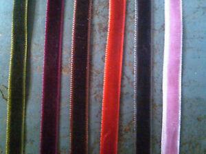 """Vintage Velvet 1/4"""" Ribbon 5yds Made in Switzerland"""