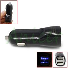 Dual Double USB Port AUTO Car Charger Adapter For iPhone Galaxy Cellphone Black
