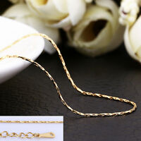 Wholesale 18K Gold GP 0.5mm Thin Chain Necklace For Pendants  AU Free Shipping