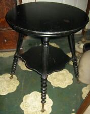 Victorian Antique Eagle Ball N Claw Cast Iron Glass Feet Wood Table Art Stand