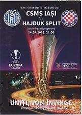 Programme CSMS IASI (Romania) vs HAJDUK SPLIT  -14/07/2016