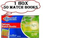 50 pack/Books Deluxe Match Books. Candles fireplace DIAMOND 1000 Matches. USA