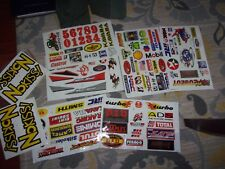 ASSORTED LOT MOTORCROSS RACING/GAS/OIL STICKERS