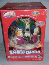 GEMMY AIRBLOWN INFLATABLE SNOW GLOBE (SNOWMAN/ PENGUINS) NIB