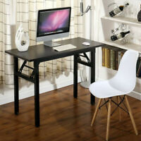 47in Folding Home Office Study Table Computer Desk Small Space Home Writing Desk