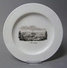 (G982) Meissen Verduten Teller mit Ansicht von Altenburg Kupferumdruck 1820/30
