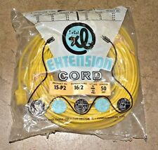 EXTENSION CORD 50FT 16-2 15A 125V 1875W Medium Duty 15-P2 ExCel Outdoor NEW