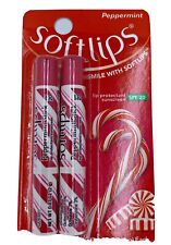 Softlips 2 sticks of lip protection/sunscreen balm peppermint SPF 20