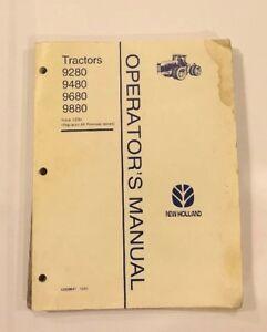 New Holland Versatile 9280 9480 9680 9880 Operators Manual