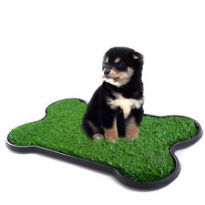 Puppy Potty Trainer Indoor Training Toilet Pet Dog Grass Pad Pee Mat Patch Turf