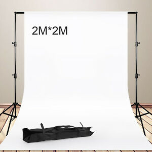 Photography Studio Heavy Duty Backdrop Stand Screen Background Support Kit+Case