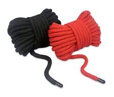 2pack - Soft Cotton Rope 11m/36ft BDSM Bondage Shibari Restraints w/ Rubber Ends