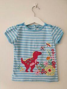 Jojo Maman Bebe Baby Girl Girls Dinosaur Tshirt 12-18m Months