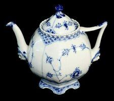 Royal Copenhagen Denmark Blue Fluted Full Lace Teapot 1 / 1119 1st Quality Mint