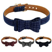 Luxury British Dog Bow Tie Collar Soft Padded Pet Puppy Cat Pomeranian Yorkie
