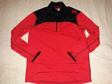 Mens Under Armour Combine Heat Gear Loose Fit Long Sleeve 1/4 Zip Pullover Sz Md
