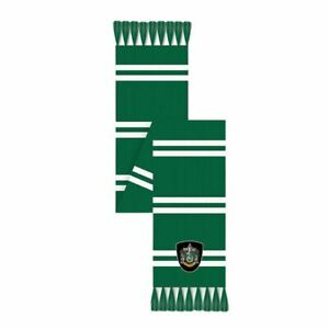 Harry Potter Slytherin House Knitted Scarf Green and White