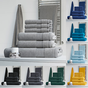 LUXURY 100% EGYPTIAN COTTON 6 PIECE TOWEL BALE SET TOWELS FACE HAND BATH TOWEL