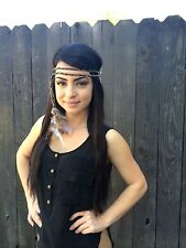 Braided Feather Headband - Festival Headband - Hippie Headband - Raves - Fashion