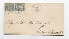 P774-VITT.EM.II°-1 + 1 CENT COLORI DIVERSI DA GENOVA 1866