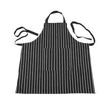 Kitchen Baking Ware Zebra Chalk Stripes Bib Apron with Pockets LW