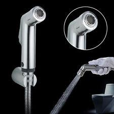 2 Functions Toilet Handheld Bidet Shower Spray Kit Sprayer+Hose+Holder Set