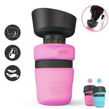 Dog Water Bottle Foldable Bowl One-Handed Operation 18.3oz Food Grade Cup Trip