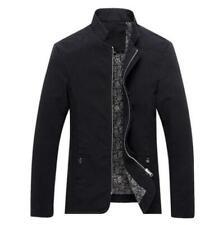 New Men's fashion casual Spring  coats collar Slim Short thin coat Black Size M