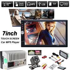 "7"" 2 DIN Car Multimedia FM Radio DVD CD MP5 Player Bluetooth HD Rear View Camera"