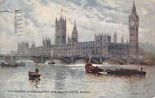 London The Houses of Parliament and Westminster Bridge
