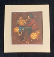 "Norman Rockwell signed ""Pumpkin Carving"""