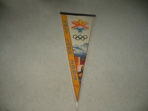 Vintage 2002 Salt Lake City Winter Olympics Felt Pennant
