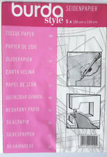 BURDA SEWING PATTERN TISSUE PAPER 5 SHEETS X 150CM X 110CM
