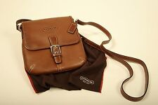 *RARE* AND AUTHENTIC COACH *LEATHER LIKE BUTTER* SADDLE BROWN  CROSS-BODY PURSE