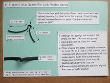 """Mortice/ Rim Door lock handle feather spring 5/16"""" (8mm) wishbone (other Sizes)"""