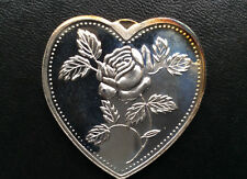 Especially For You Heart Shaped Silver Art Medal P2655