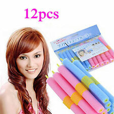 12x SOFT BENDY TWIST HAIR HAIRDRESSING ROLLERS FOAM CURLERS TWISTEE BENDERS BEST