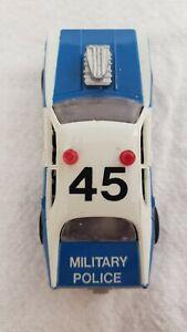 TYCO Blue White Military Police Slot Car - MP 45