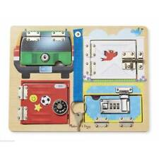 Melissa and Doug Locks and Latches Board Learning Educational Toy