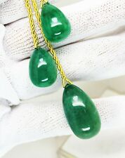83.61 Ct Fine Natural Emerald Zambia Drops Pair UnTreated Loose Gemstone