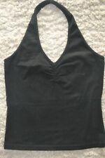Blouse noire épaules dénudées (fermée autour du cou) - taille S
