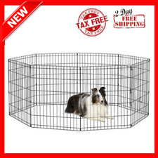 New Portable Foldable Metal Exercise Pen & Pet Playpen Medium Dog Pen: 30-Inch