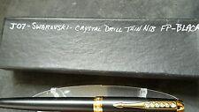 JINHAO Fountain Pen - model 77 with SWAROVSKI CRYSTAL DRILL IN BLACK Thin Nib