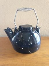 uniflame c1921 25 quart black speckled porcelain cast iron kettle