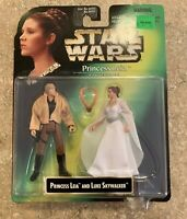 Vintage Star Wars Nib Princess Leia And Luke Skywalker Kenner 1997 E3