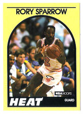 Rory Sparrow 1989 NBA Hoops Miami Heat insert Basketball card no.52