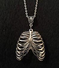 3D Collar Esqueleto Gótico Steampunk costillas Anatomía Terror costillas Rockabilly * Reino Unido