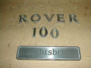 Rover 100 Knightsbridge badge emblem motifs