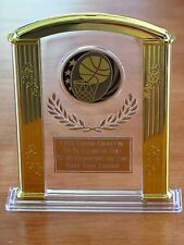"Basketball (or any SPORT) 7"" Acrylic Award Trophy FREE custom engraving"